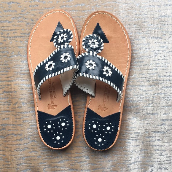 b0e4b6169bf Jack Rogers Shoes - Jack Rogers Look Alike Sandals Navy   White